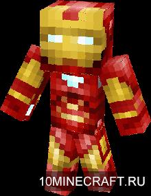 скачать скин для Minecraft железного человека - фото 10