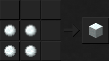 Как сделать снежный блок