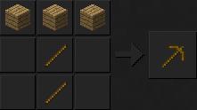 Как сделать в майнкрафте кирку деревянный
