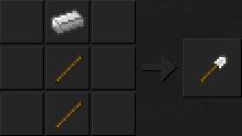 Как сделать лопату (железную) в Майнкрафте