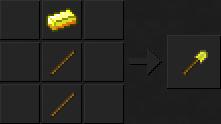 Как сделать лопату (золотую) в Майнкрафте