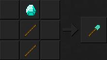 Как сделать лопату (алмазную) в Майнкрафте