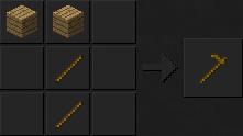 Как сделать мотыгу (деревянную) в Майнкрафте