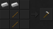 Как сделать мотыгу (железную) в Майнкрафте