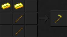 Как сделать мотыгу (золотую) в Майнкрафте