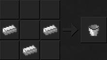 В minecraft подробное видео как скрафтить ведро