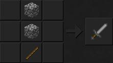 Как сделать меч (каменный) в Майнкрафте
