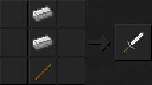 Как сделать меч (железный) в Майнкрафте
