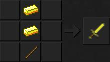 Как сделать меч (золотой) в Майнкрафте