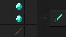 Как сделать меч (алмазный) в Майнкрафте