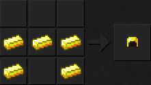 Как сделать шлем (золотой) в Майнкрафте