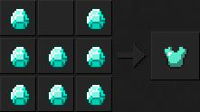 Как сделать куртку (алмазную) в Майнкрафте