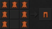 Как сделать штаны (кожаные) в Майнкрафте