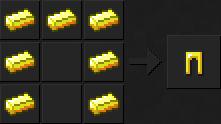 Как сделать штаны (золотые) в Майнкрафте