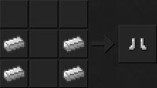 Как сделать ботинки (железные) в Майнкрафте