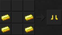 Как сделать ботинки (золотые) в Майнкрафте