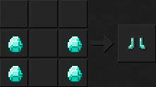Как сделать ботинки (алмазные) в Майнкрафте
